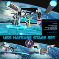 MMD Miku Hatsune's Starship Stage Set by Trackdancer