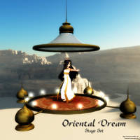 MMD Oriental Dream Stage Set by Trackdancer