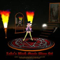 MMD Luka's Black Magic Stage Set by Trackdancer