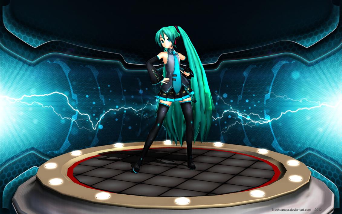 MMD Hatsune-San's Pedestal by Trackdancer