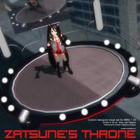 MMD Zatsune's Throne Stage Set by Trackdancer