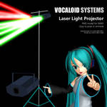 MMD Accessory Vocaloid Systems Laser Lamp