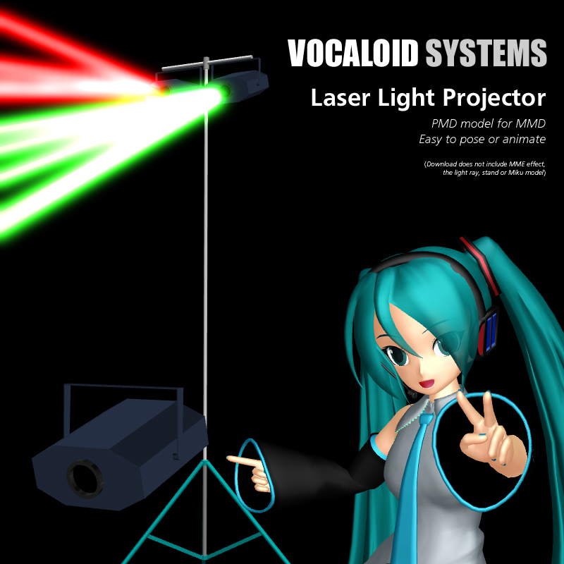 Mmd Accessory Vocaloid Systems Laser Lamp By Trackdancer