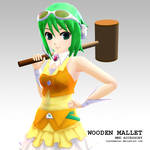 MMD Accessory wooden mallet