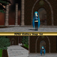 MMD Gothica Stage Set by Trackdancer