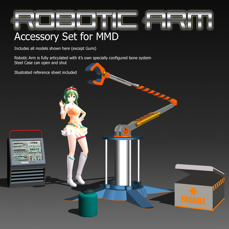 MMD Accessory Robotic Arm by Trackdancer
