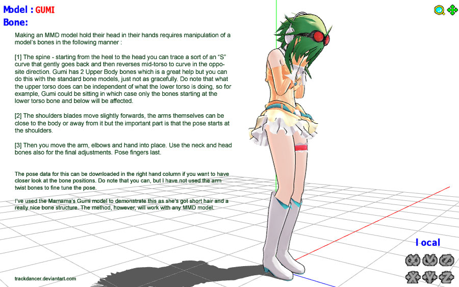 MMD Gumi holding her h...
