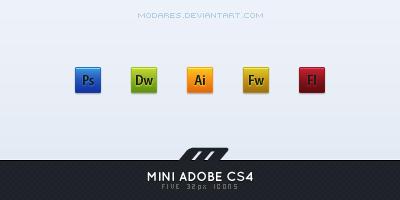 icons _ mini adobe cs4 by modares