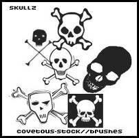 brushes +  skullz by covetous-stock