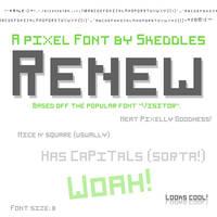 Font - Renew by skeddles