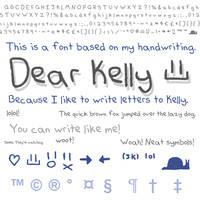 Font - Dear Kelly by skeddles