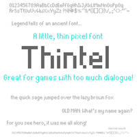 Thintel: A Little, Thin Pixel Font
