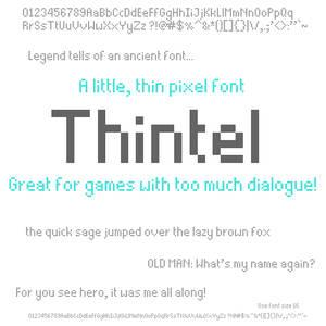 Thintel: A Little, Thin Pixel Font