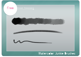 Watercolor Junkie Brushes by svp-stock
