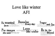 Love Like Winter lyrics brush. by TheKillingLights
