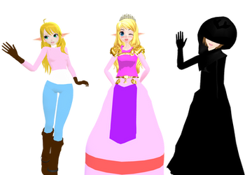 MMD Newcomers + DL - Zelda(OOT, SS(Casual), TP)