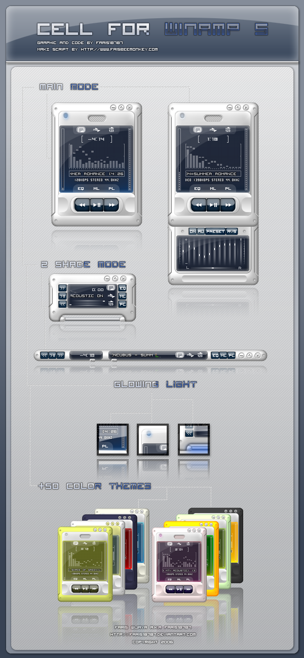 An overview of the tutorial for the winamp skin changing