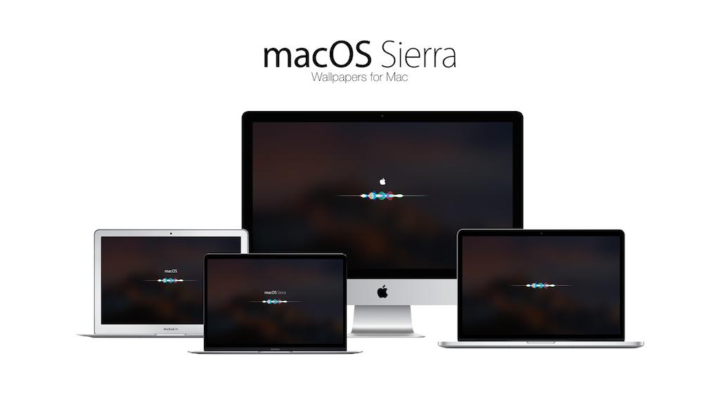 macOS Sierra with Siri Wallpapers