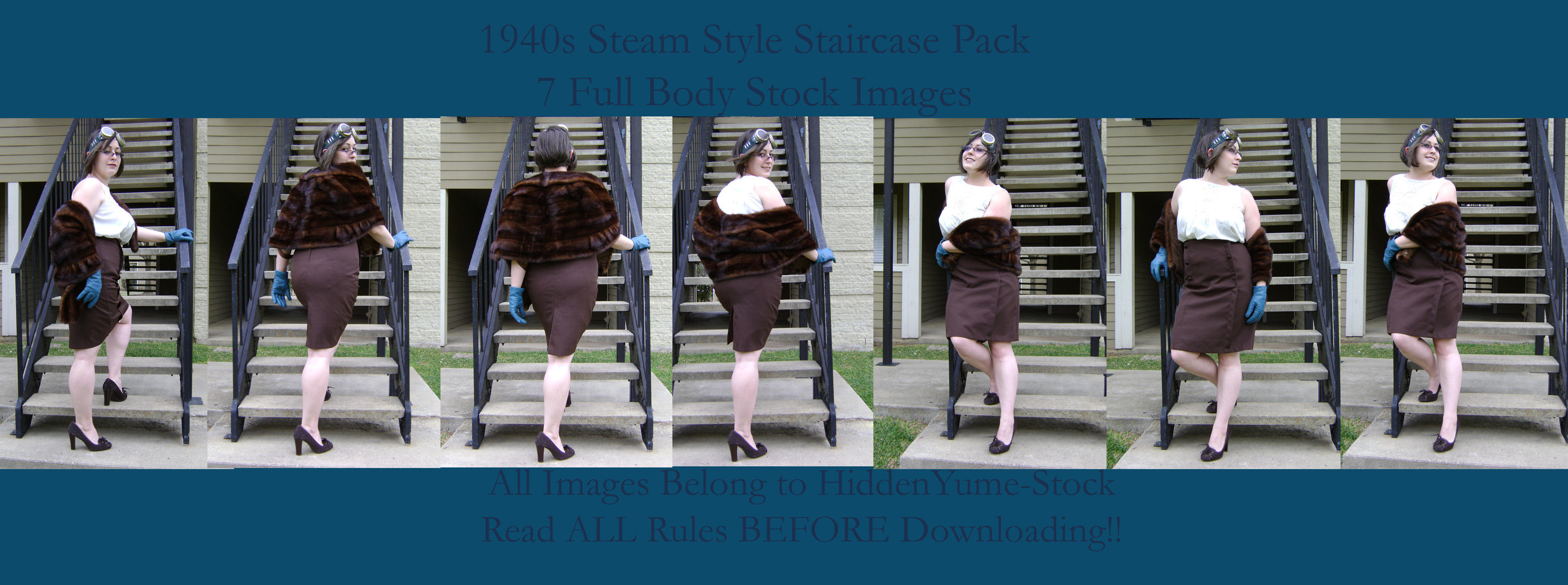 1940s SteamStyle Staircase by HiddenYume-stock