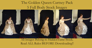 The Golden Queen Curtsey Pack