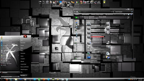 Silver X theme for Windows 7