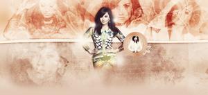Demi Lovato Header Psd