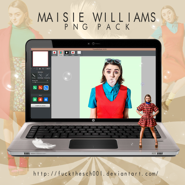 MAISIE WILLIAMS PNG PACK by Fuckthesch00l