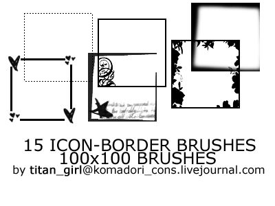 15 Icon Borders Brushes