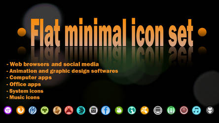 Flat minimal round icon set by spiraloso