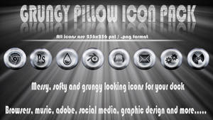 Grungy pillow icon pack