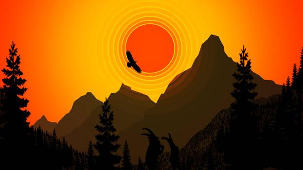 Mountain scenery wallpaper 2