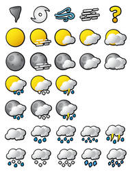 Smooth Weather Icons
