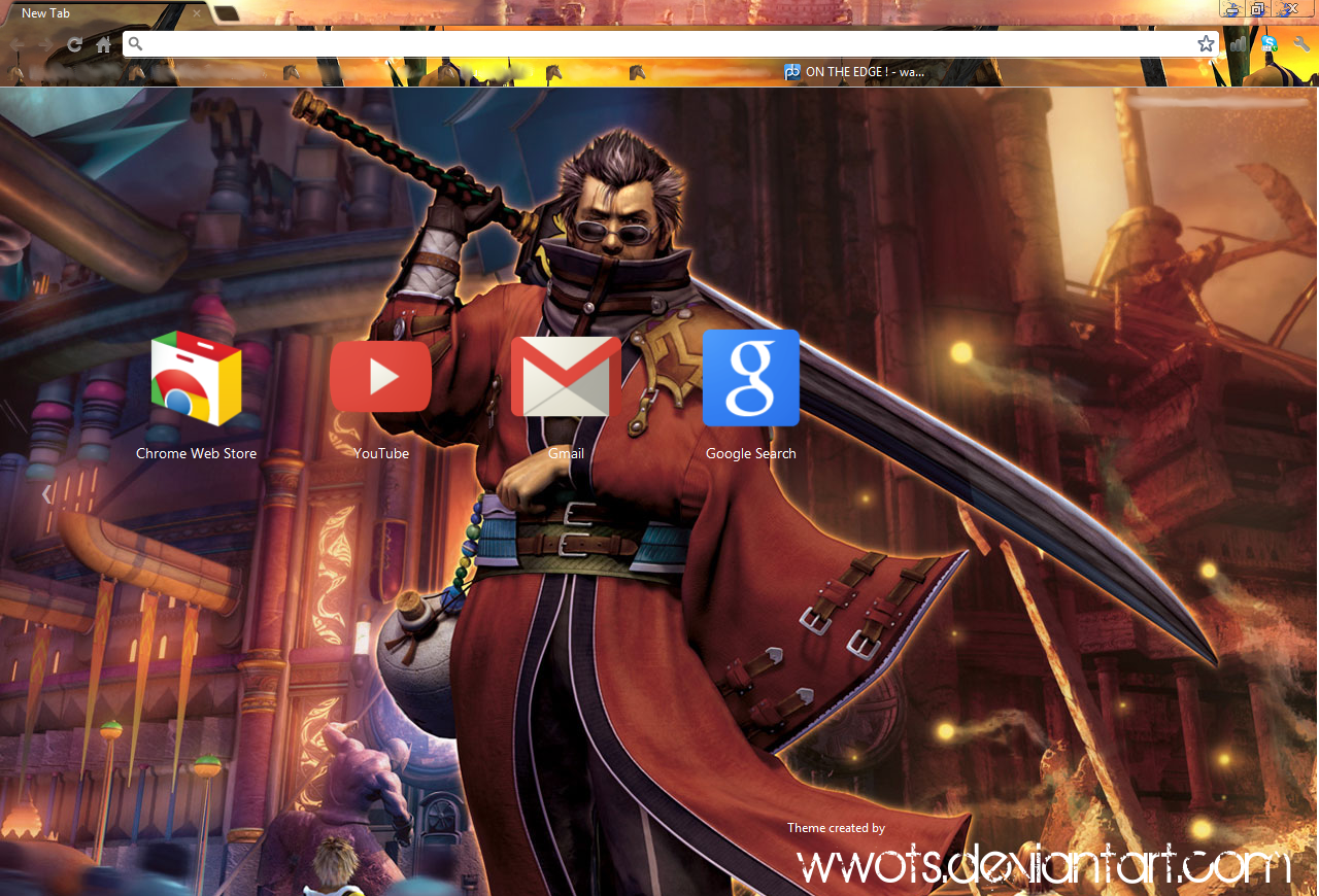 Final Fantasy X - Google Chrome Theme! by WWotS