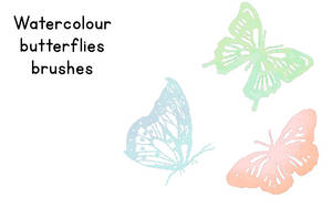 Watercolour butterfly brushes GIMP by Kittylyn-Donut