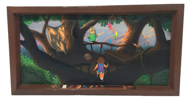 TailFox paper diorama #2 - Nest (1)