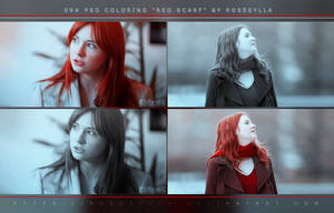 [09] PSD Coloring: Red Scarf by Rosesylla