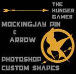 Mockingjay Pin and Arrow Custom Shapes