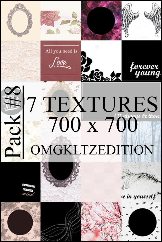 Pack #8 - 7 textures by OmgKltzEdition