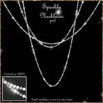 Sparkly Necklace Overlays - PNG and PSD Included