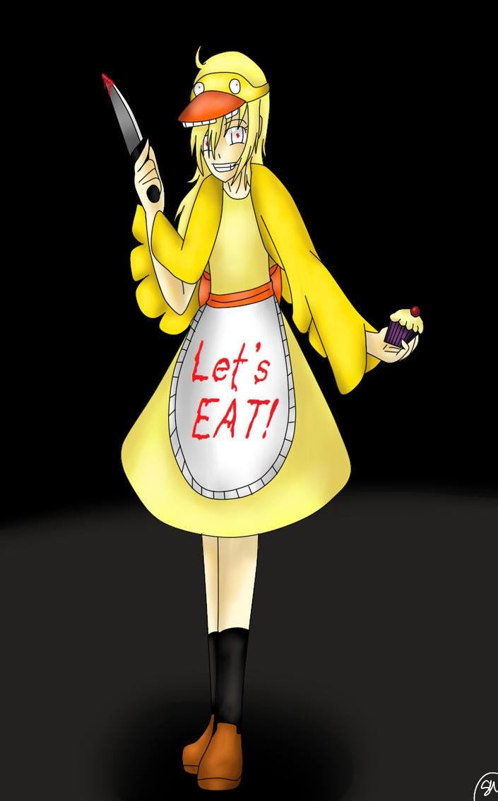 Human chica x reader let s eat together by pikablaze on deviantart