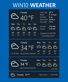 Weather on Rainmeter - DeviantArt