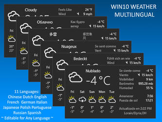 Win10 Weather Multilingual by Eclectic-Tech