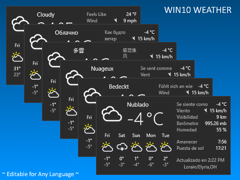 Win10 Weather Stand Alone Version V3.2020.10.18