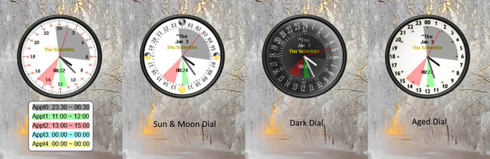 Schedule Clock for Rainmeter by Eclectic-Tech
