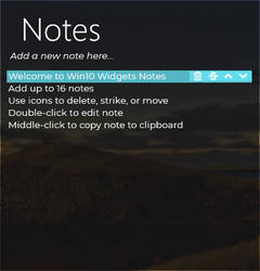 Win10 Widgets Notes Patch 1.0.0