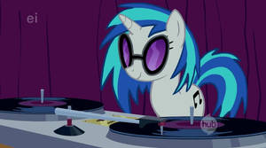 Vinyl Scratch has a message