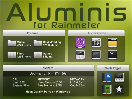 Aluminis for Rainmeter by parry