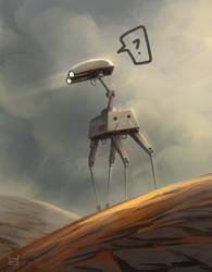Lost droid by Azcazach