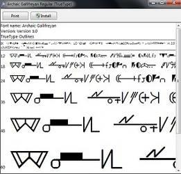 Old High Gallifreyan font