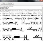Old High Gallifreyan font by Chroniton8990
